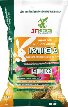 MINERAL ORGANIC PELLETED FERTILIZER MIGA 3.3.4 (25 KGS) M2