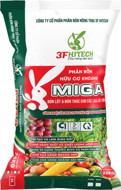 MINERAL ORGANIC PELLETED FERTILIZER MIGA 3.3.4 (25 KGS) M3