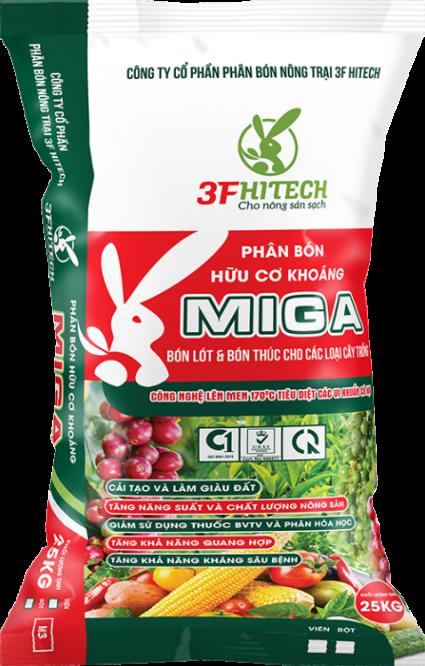 MINERAL ORGANIC PELLETED FERTILIZER MIGA 3.3.4 (25 KGS) M3